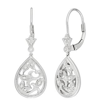 Neil Lane Designs Silver Filigree Diamond Earrings - Product number 5519748