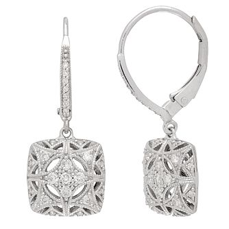 Neil Lane Designs Silver 0.19ct Vintage Earrings - Product number 5519756