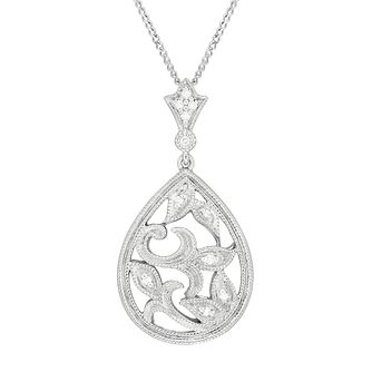 Neil Lane Designs Silver Filigre Diamond Pendant - Product number 5519764