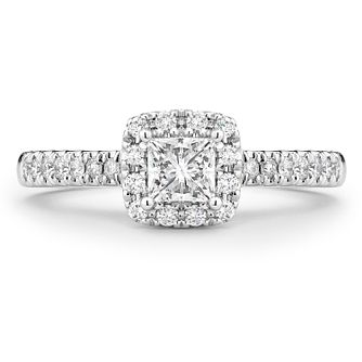 Tolkowsky 18ct White Gold 2/3ct Princess Cut Diamond Ring - Product number 5524059
