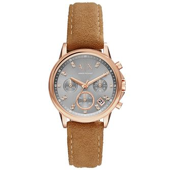 Armani Exchange Ladies' Brown Leather Strap Watch - Product number 5526671