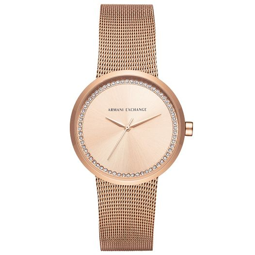 Armani Exchange Ladies' Rose Gold Plated Bracelet Watch - Product number 5526701