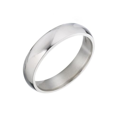 9ct White Gold 5mm Super Heavy Court Ring - Product number 5546796