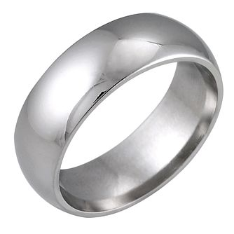 9ct White Gold 7mm Super Heavy Court Ring - Product number 5547032