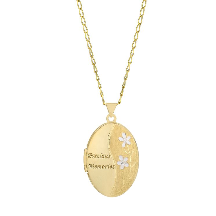 Lockets necklaces pendants hmuel 9ct gold oval locket product number 5550017 mozeypictures Image collections