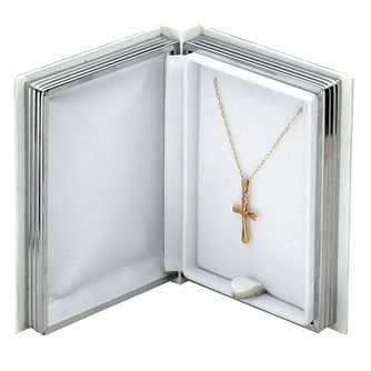 9ct Gold Cross and Bible Box - Product number 5553547