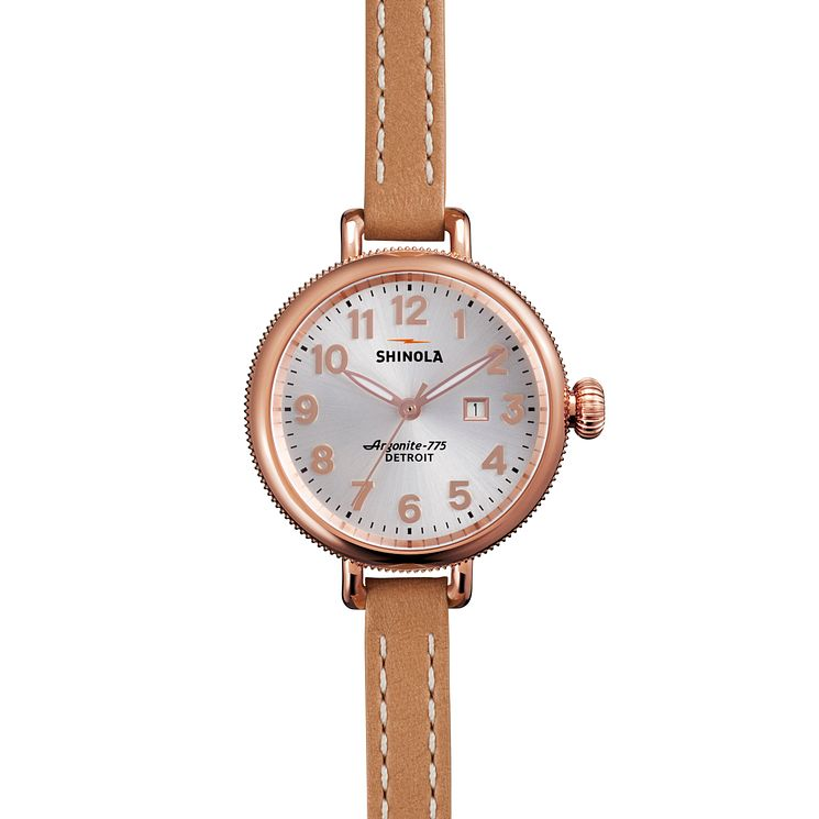 Shinola Birdy Ladies' Rose Gold Plated Strap Watch - Product number 5696399