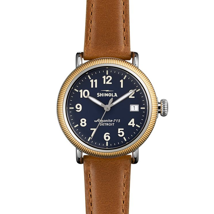 Shinola Runwell Ladies' Gold Plated Strap Watch - Product number 5696410