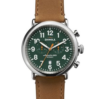 Shinola Runwell Men's Stainless Steel Strap Watch - Product number 5696666