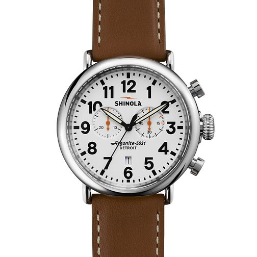 Shinola Runwell Men's Stainless Steel Strap Watch - Product number 5696755