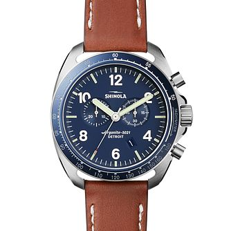 Shinola Rambler Men's Stainless Steel Strap Watch - Product number 5696984