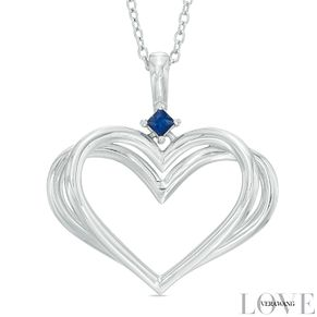 Vera Wang Silver Kindred Heart Sapphire Heart Pendant - Product number 5697018