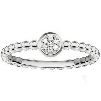 Thomas Sabo Sterling Silver Round Diamond Ring Size M - Product number 5698200