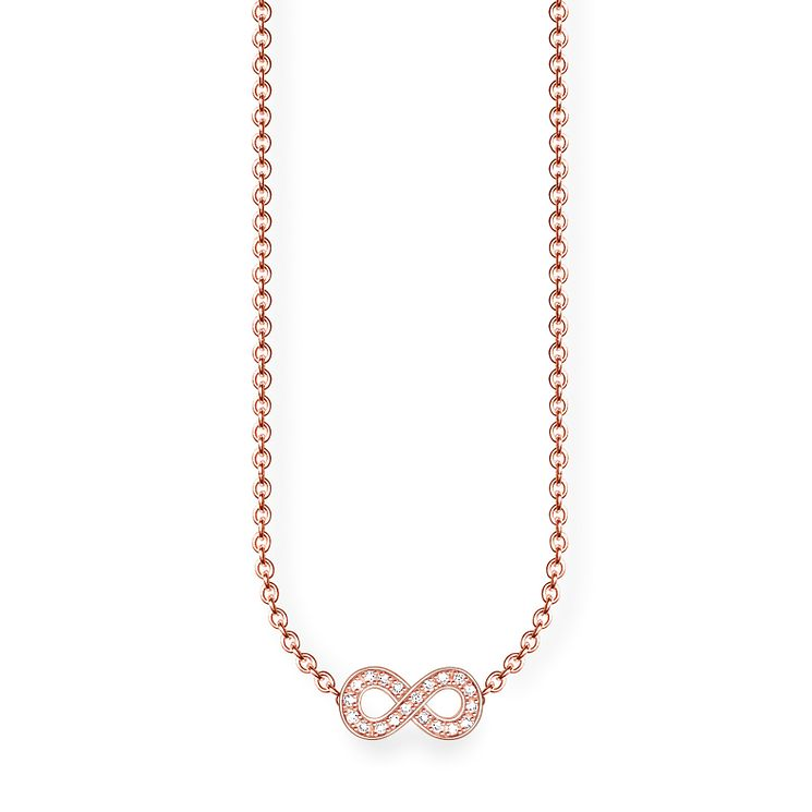 Thomas Sabo Rose Gold Plated Eternal Diamond Necklace - Product number 5698642