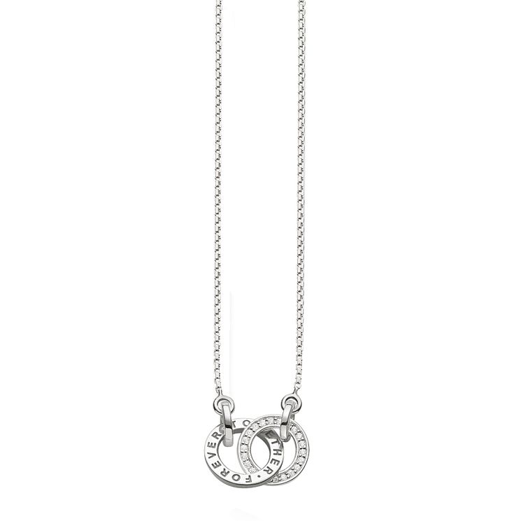 Thomas Sabo Sterling Silver Together Stone Set Necklace - Product number 5698820