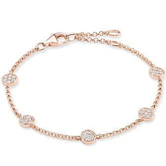 Thomas Sabo Rose Gold Plated Stone Set Bracelet - Product number 5699142