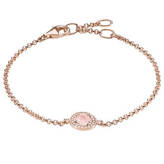Thomas Sabo Rose Gold Plated Stone Set Bracelet - Product number 5699150