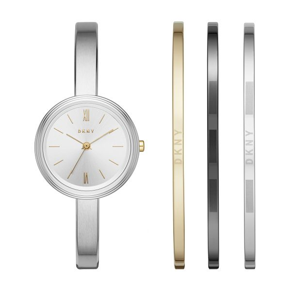 DKNY Ladies' Stainless Steel Bracelet Watch Gift Set - Product number 5704871