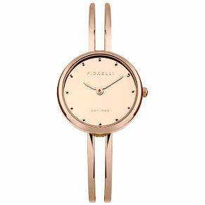 Fiorelli Ladies' Rose Gold Leather Strap Watch - Product number 5707218