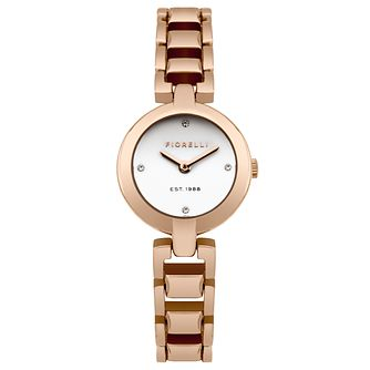 Fiorelli Ladies' Rose Gold Plated Bracelet Watch - Product number 5707250