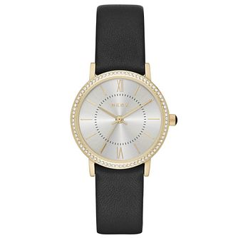 DKNY Ladies' Willoughby Black Leather Strap Watch - Product number 5707293
