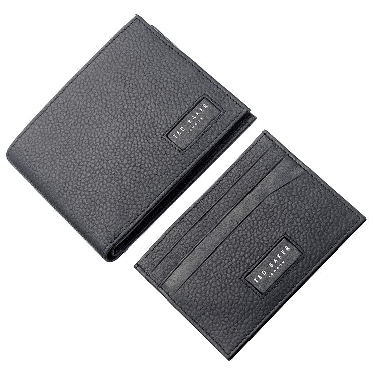 Ted Baker Black Leather Wallet & Cardholder - Product number 5708257