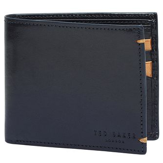 Ted Baker Aunat Men's Navy Leather Wallet - Product number 5709601