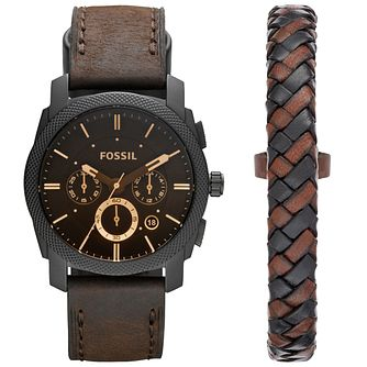 Fossil Men's Strap Watch & Bracelet Gift Set - Product number 5709903