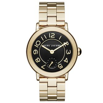Marc Jacobs Riley Ladies' Gold Tone Bracelet Watch - Product number 5710073