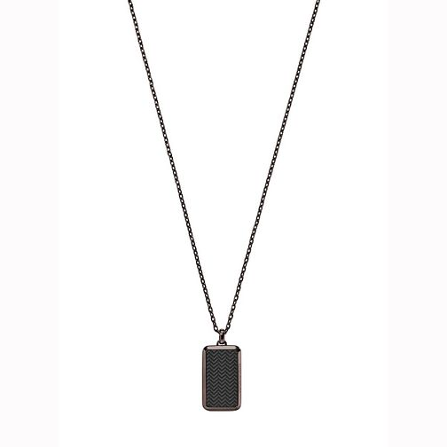 Emporio Armani Men's Ion Plated Dog Tag Necklace - Product number 5711428