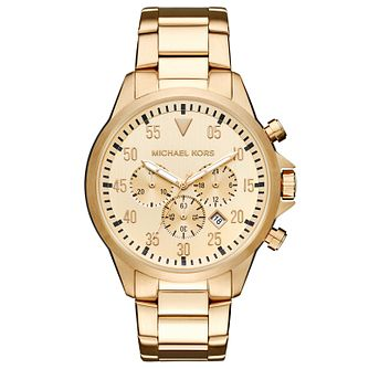 Michael Kors Men's Gold Tone Bracelet Watch - Product number 5712378
