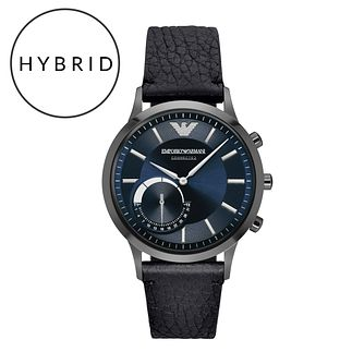 Emporio Armani Connected Men's Black Strap Hybrid Smartwatch - Product number 5712696