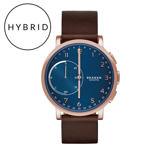Skagen Connected Men's Rose Gold Tone Hybrid Smartwatch - Product number 5712734