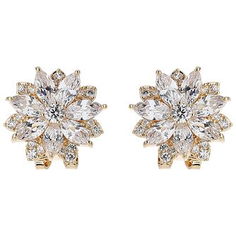 Mikey Sunflower Crystal Stud Earrings - Product number 5714702
