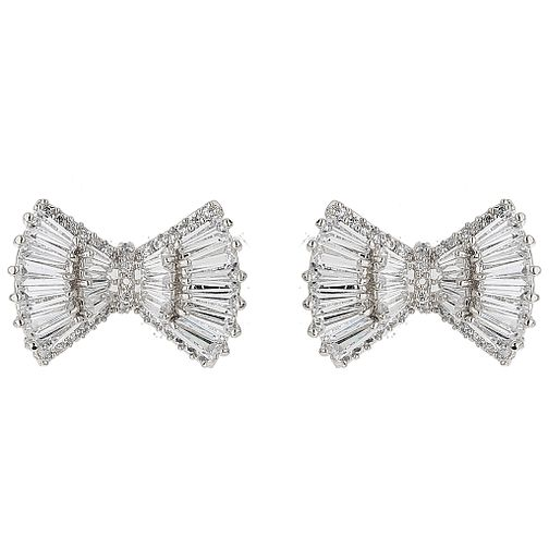 Mikey Baguette Cubic Bow Earrings - Product number 5714818