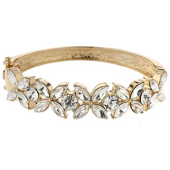 Mikey Gold Tone Crystal Set Flower Design Bangle - Product number 5715334