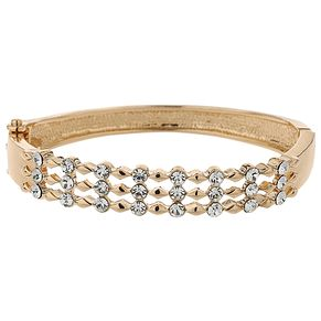 Mikey Gold Tone Triple Band Cubic Zirconia Set Bangle - Product number 5715377