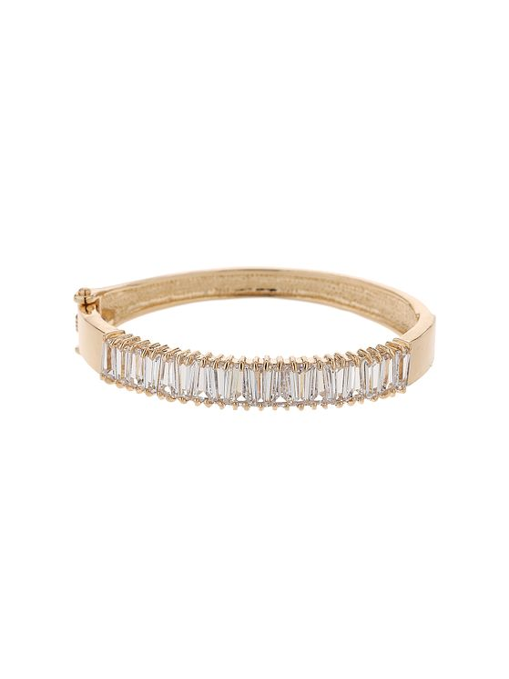 Mikey Gold Tone Cubic Zirconia Slot Bangle - Product number 5715393