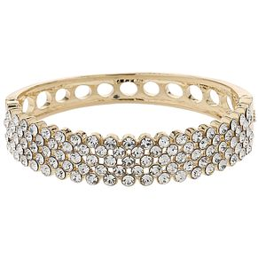 Mikey Gold Tone Crystal Mesh Cuff Bangle - Product number 5715482