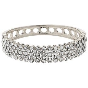 Mikey Silver Tone Crystal Mesh Cuff Bangle - Product number 5715504