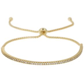 Mikey Gold Tone Crescent Crystal Bracelet - Product number 5715598