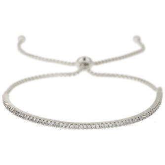 Mikey Silver Tone Crescent Crystal Bracelet - Product number 5715601