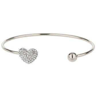 Mikey Silver Tone Crystal Heart and Ball Bangle - Product number 5715709