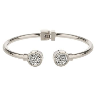 Mikey Silver Tone Crystal Hinged Bangle - Product number 5715733