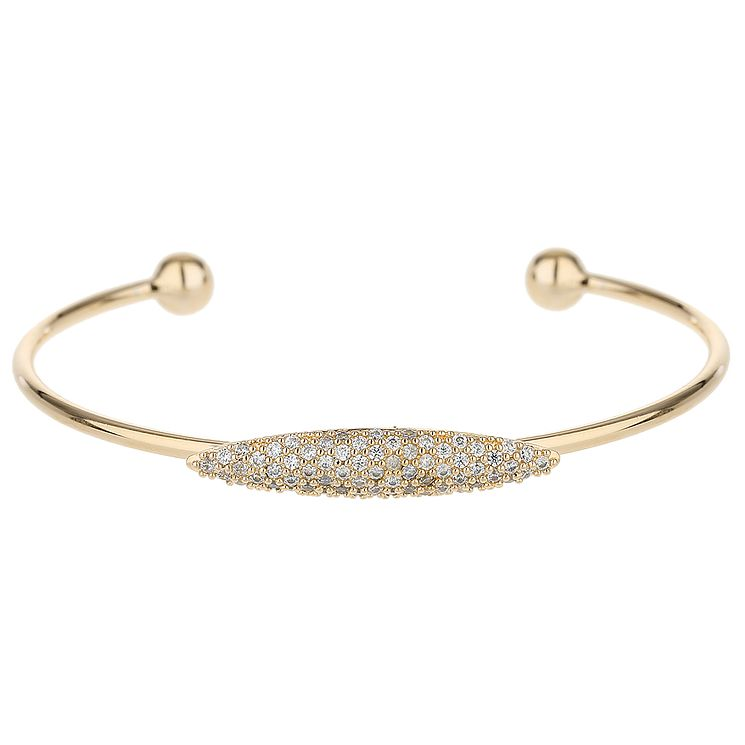 Mikey Gold Tone Fine Cubic Zirconia Ellipse Bangle - Product number 5715741