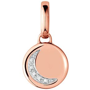 Links of London 18ct Rose Gold Vermeil Moon Disc Charm - Product number 5718279