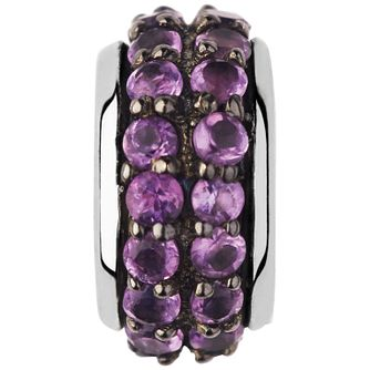 Links of London Sterling Silver Amethyst Pave Bead - Product number 5718287