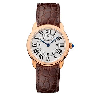 Cartier Ronde Solo Ladies' Rose Gold Strap Watch - Product number 5724287