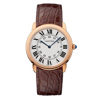 Carter Ronde Solo Men's Rose Gold Strap Watch - Product number 5724325
