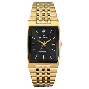 Accurist Men's Gold-Plated Diamond-Set Watch - Product number 5755204